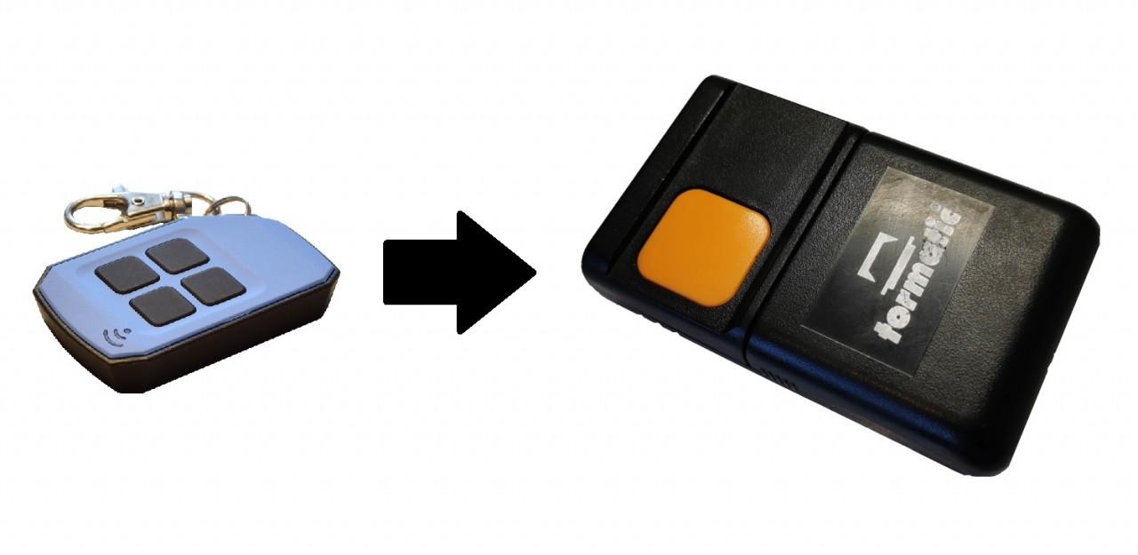 Handsender für Tormatic HS43 mit 433,92 MHz in 4 Farben