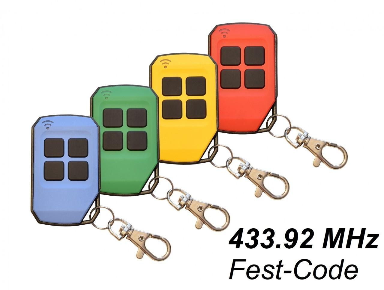 Handsender für Tedsen Teletaster 433,92 MHz in 4 Farben