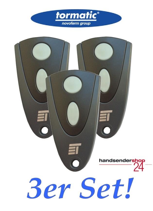 3 Stück Tormatic Handsender 502 MAX43-2 mit 433,92 MHz