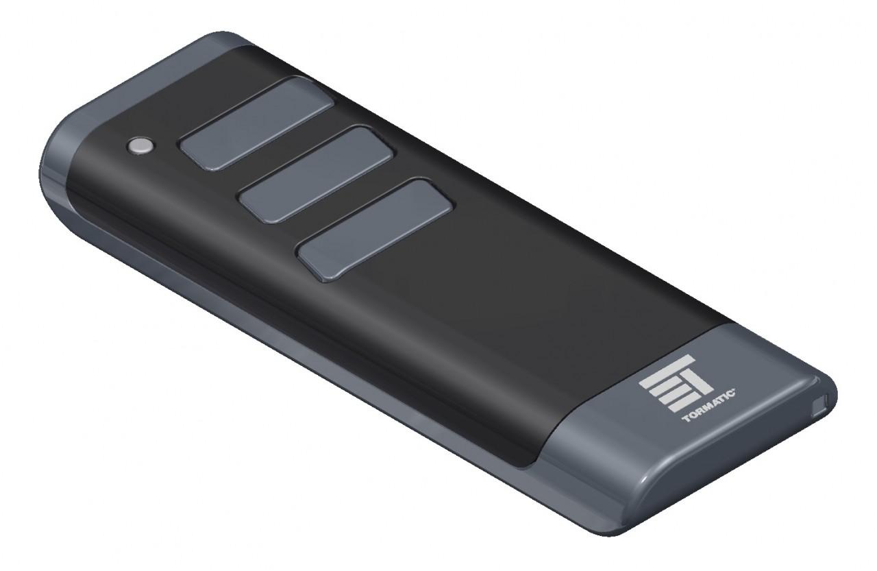 Tormatic BLACK Design 3-Kanal Handsender mit 433 MHz